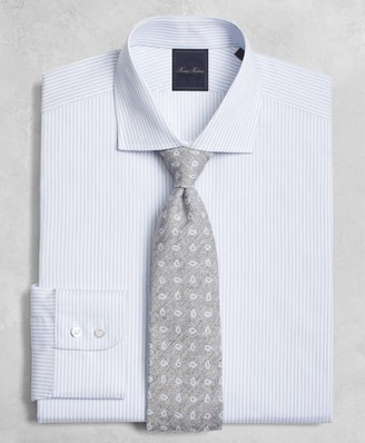 Brooks Brothers Golden Fleece Milano Slim-Fit Dress Shirt, English Collar Hairline-Candy-Stripe