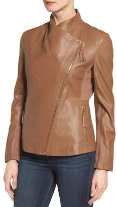 Via Spiga Asymmetrical Leather Jacket