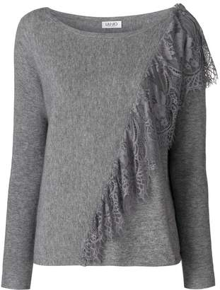 Liu Jo lace applique sweater
