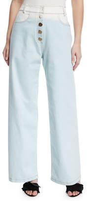 REJINA PYO Valeria High-Waist Ombre Wide-Leg Jeans