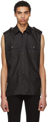 Givenchy Black Sleeveless Pocket Shirt