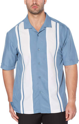 Cubavera Embroidered Panel Vertical Stripe Shirt