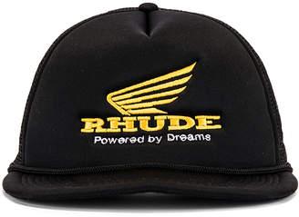 Rhude Rhonda Trucker in Black & Yellow | FWRD