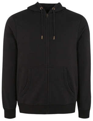 George Black Zip Through Hoodie