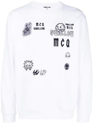 McQ embroidered sweatshirt