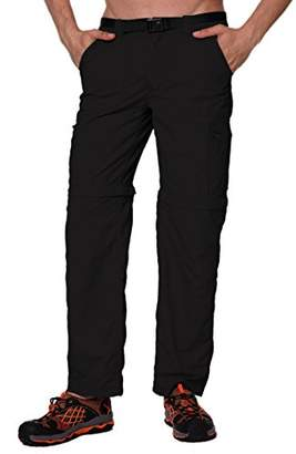 Co Trailside Supply Men's Standard Quick-Dry Convertible Nylon Trail Pants with Zip-Off Short (
