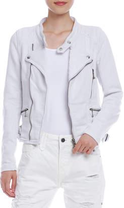Taverniti So JIMMY DENIT ダブルジップ ライダース風ジャケット ホワイト xs