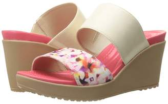 Crocs Leigh II 2-Strap Graphic Wedge Women's Wedge Shoes