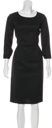 Creatures of Comfort Wool-Blend Knee-Length Dress Black Wool-Blend Knee-Length Dress