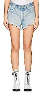 Moussy Women's Etna Distressed Denim Cutoff Shorts - Lt. Blue