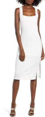 Rowa Row A Rib Midi Dress