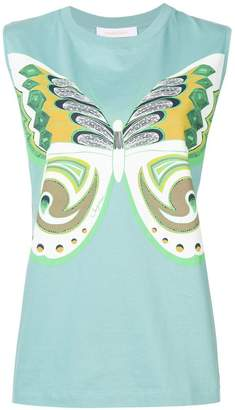 See by Chloe sleeveless butterfly motif top
