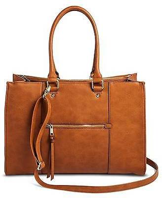 Merona; Women's Tote Faux Leather Handbag with Zip Front Pocket - Merona; $39.99 thestylecure.com