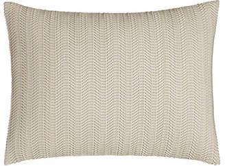 "Donna Karan Home Moonscape Faux-Leather Pillow, 12"" x 16"""