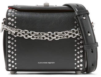 Alexander McQueen Box Bag 19 Studded Leather Shoulder Bag - Black