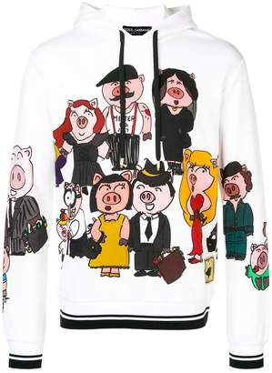 Dolce & Gabbana Pig Family hoodie