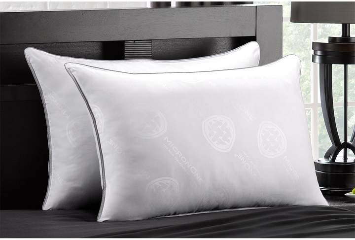 MicronOne Deluxe Allergen Free Gel Fiber Filled Firm Pillow - Set of 2 - White