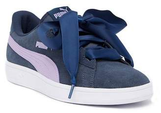 Puma Smash V2 Ribbon Sneaker (Big Kid)