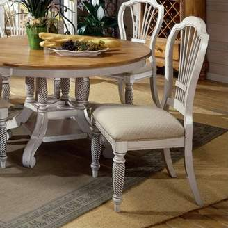 Hillsdale Furniture Wilshire Fabric Dining Chair in Antique White (Set of 2)