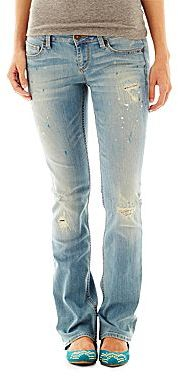 Arizona Paint Splatter Bootcut Jeans