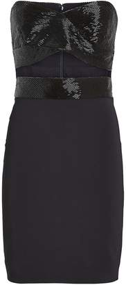 Cushnie Strapless Beaded Mini Dress