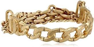 Kenneth Cole New York Crystal Radiance Multi-Chain Half Stretch Bracelet