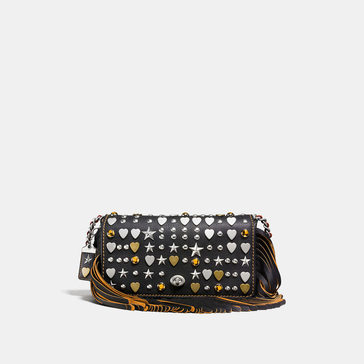 Coach  COACH Coach Dinky In Very Natural Pebble Leather With Beatnik Rivets