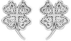 QVC Sterling Petite Four-Leaf Clover Post Earrings
