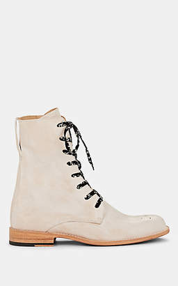 Esquivel Women's Dublin Distressed Leather Lace-Up Boots - White