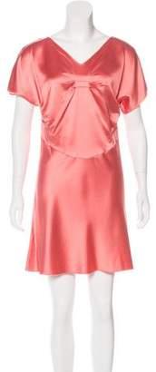 Derek Lam Silk Short Sleeve Dress