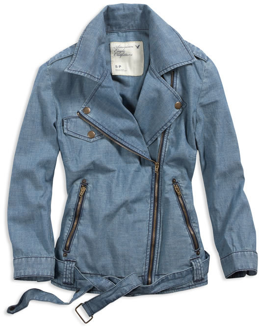 AE Chambray Moto Jacket