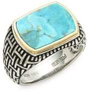 Effy Men's Sterling Silver Turquoise Cocktail Ring