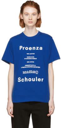 Proenza Schouler (プロエンザ スクーラー) - Proenza Schouler ブルー PSWL ケア ラベル T シャツ