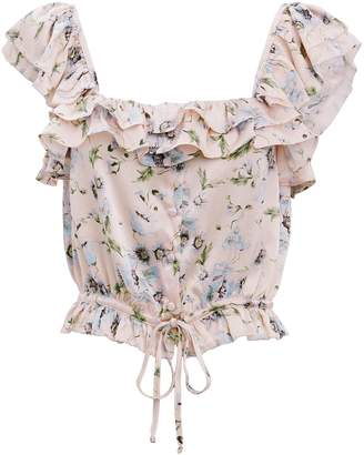 c4bc8bec9c5df5 at Intermix · LoveShackFancy Mia Floral Cropped Top