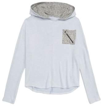 Zella Contrast Pocket Hooded Pullover