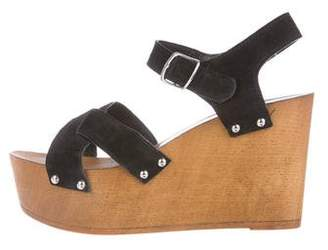 Charles David Suede Wedge Sandals
