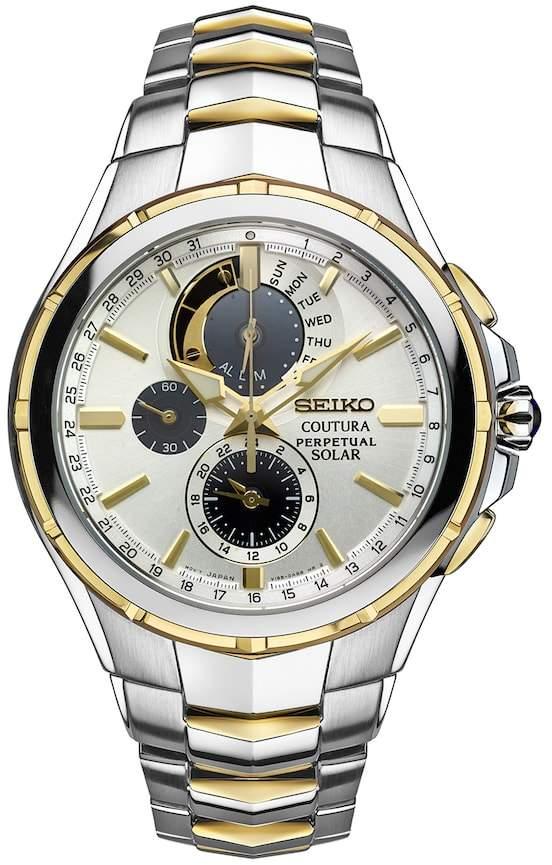 SeikoSeiko Men's Coutura Two Tone Stainless Steel Solar Chronograph Watch - SSC560