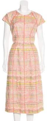 Lela Rose Midi Tweed Dress