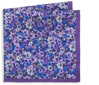 Saks Fifth Avenue Floral-Print Silk Pocket Square