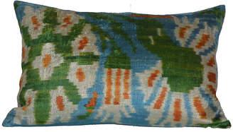 Orientalist Home Nota Ikat 16x24 Pillow - Green