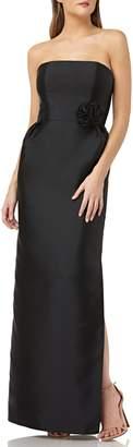 Kay Unger Strapless Mikado Evening Dress