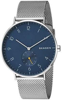 Skagen Men's Aaren Analog-Quartz Stainless-Steel Strap