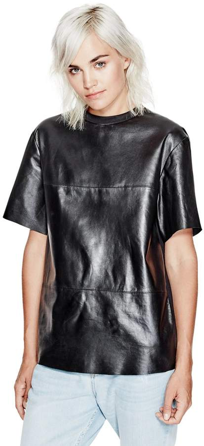 GUESS Women's Men's Leather Tee