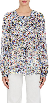 Derek Lam Women's Confetti-Print Silk Peasant Blouse $990 thestylecure.com