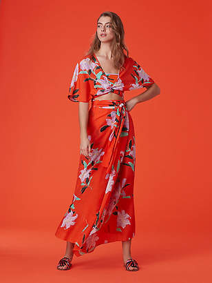 8c4d928472 at DVF · Diane von Furstenberg Draped Wrap Beach Skirt