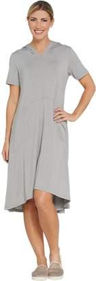 Logo By Lori Goldstein LOGO Lounge by Lori Goldstein Jersey Hooded Dress w/ Pockets