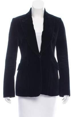 CNC Costume National Structured Velvet Blazer