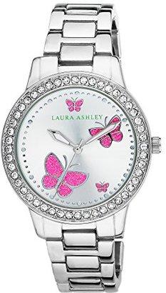 Laura Ashley Women's LA31015SS Analog Display Japanese Quartz Silver Watch $113.18 thestylecure.com