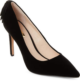 Louise et Cie Black Josely Pointed Toe Velvet Pumps
