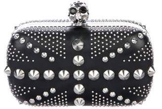 Alexander McQueen Britannia Studded Spike Skull Box Clutch